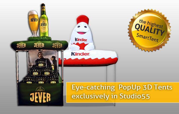 Eindrucksvolle 3D PopUp Zelte nur bei Studio55 erhältlich
